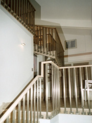Balustrade d'escalier en inox
